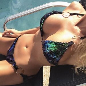 Swim - Gorgeous Sequins Mermaid Bikini